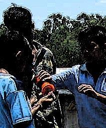 kids playing kite
